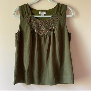Coldwater Creek Olive Green Top